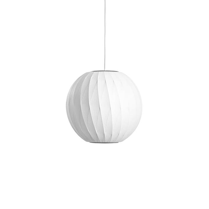 Le pendentif Nelson Ball Crisscross Bubble S, blanc cassé de Hay