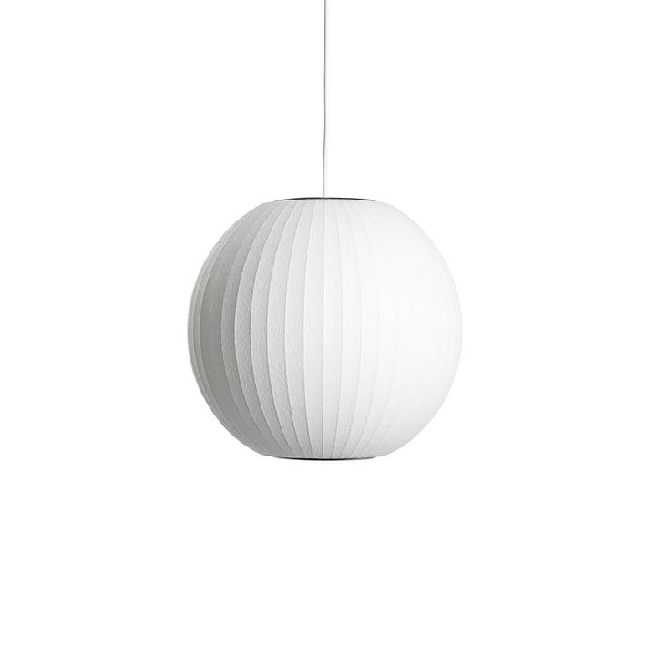 Suspension Nelson Ball Bubble S, Ø 3 2. 5 x H 30,5 cm, blanc cassé par Hay