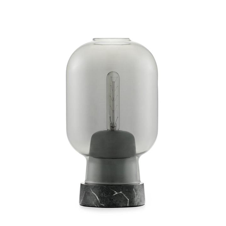 Lampe de table Amp de Normann Copenhagen en marbre noir / fumé