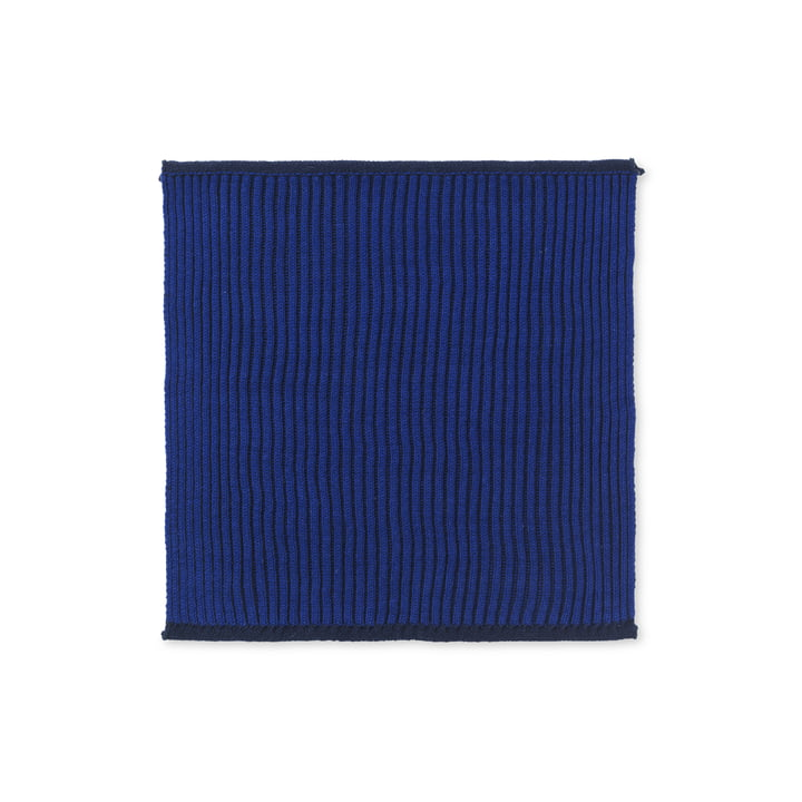 Torchon biologique Twofolg de ferm Living en bleu foncé