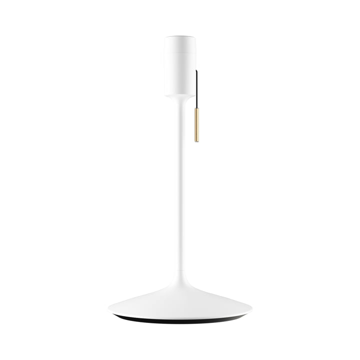 Pied de lampe à champagne H 42 cm de Umage en blanc