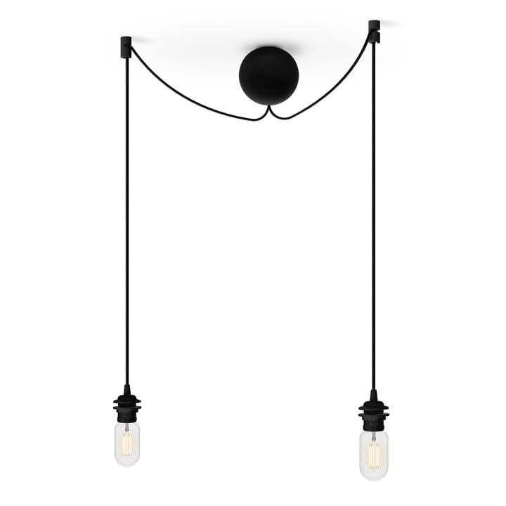 La suspension de la lampe de Umage en noir