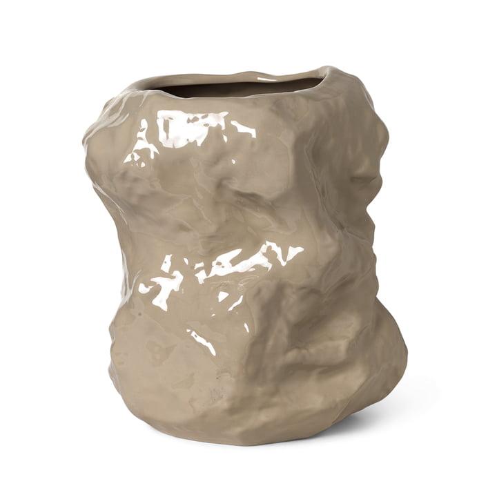Le vase Tuck de Ferm Living in cashmere, 40 cm
