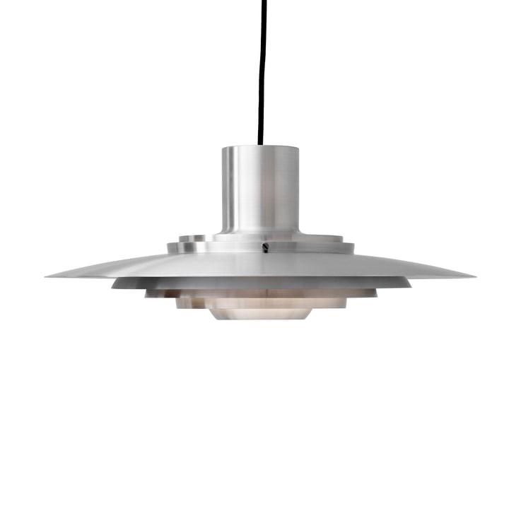 P376 Lampe à suspension, KF1 / aluminium de & tradition Le luminaire est fabriqué en aluminium brossé et donc