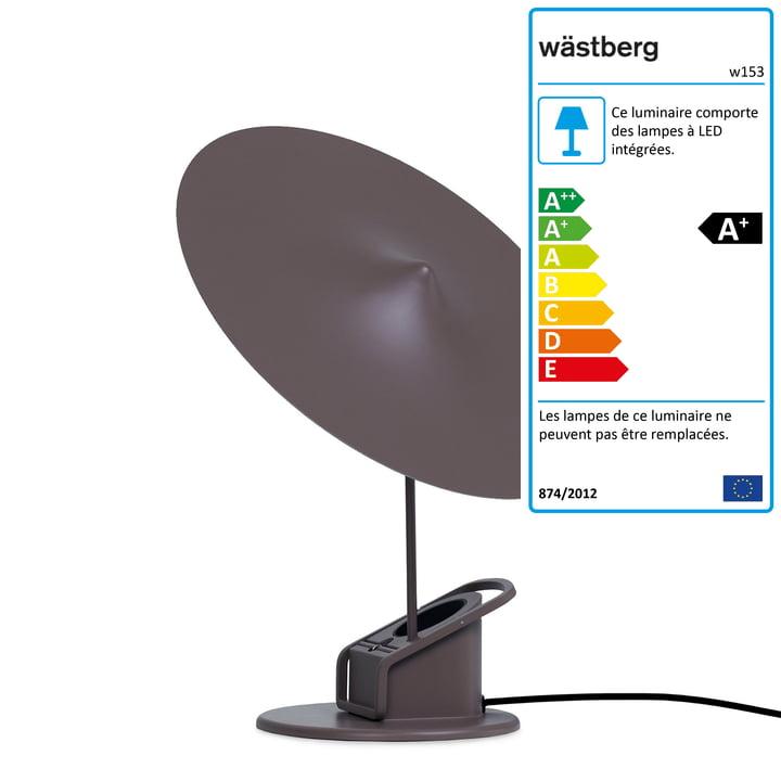 La lampe de table à LED w153 île de Wästberg en brun gris