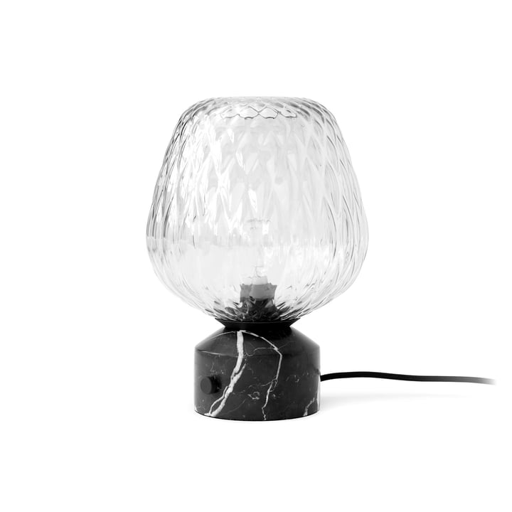 Lampe de table soufflée SW6, marbre Nero Marquina de & tradition