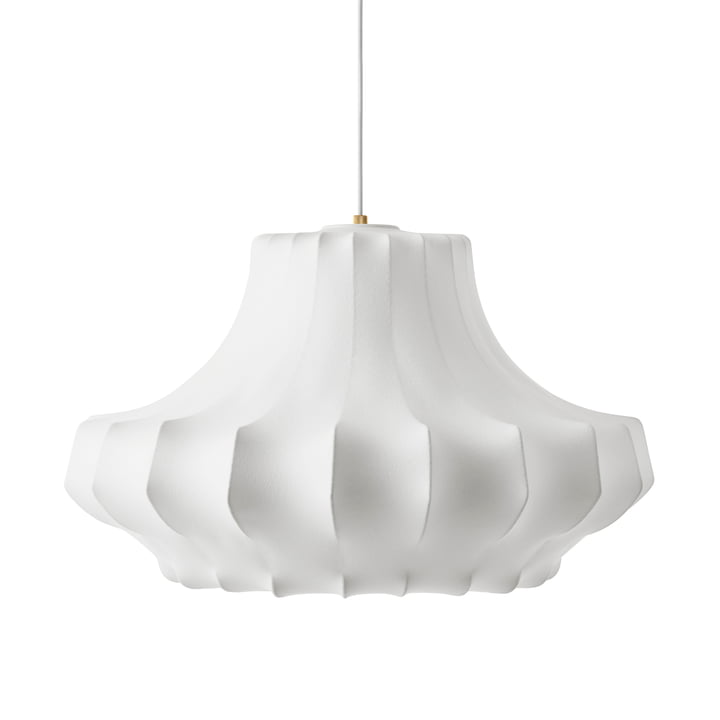 Pendentif fantôme moyen Ø 80 x H 44 cm de Normann Copenhagen en blanc