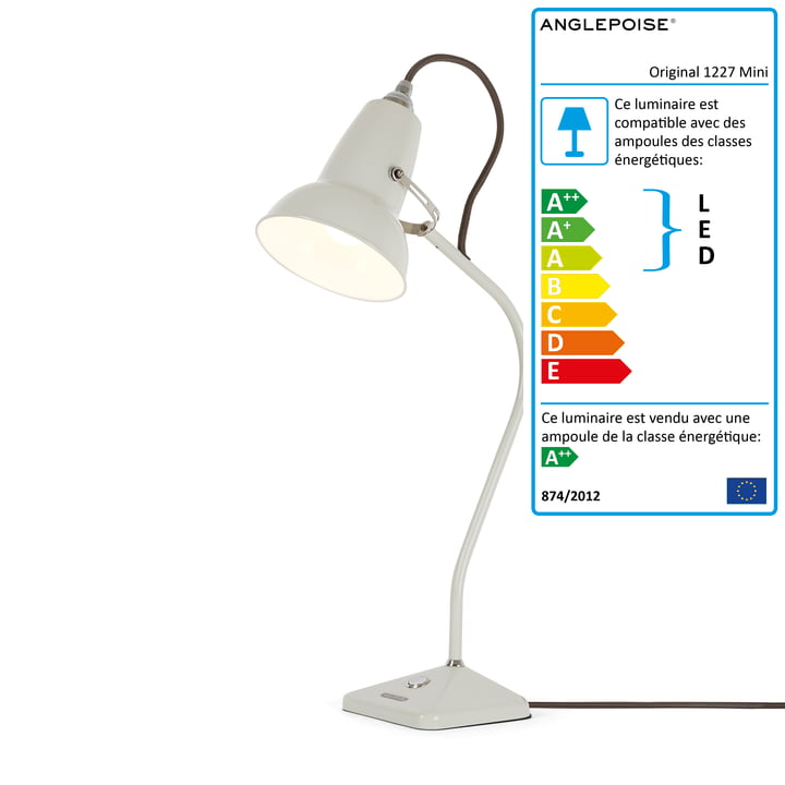 Anglepoise - Mini lampe de table Original 1227, linen white