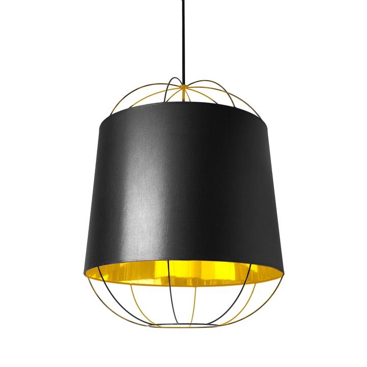 Suspension lumineuse Lanterna moyen format de Petite Friture en noir/doré