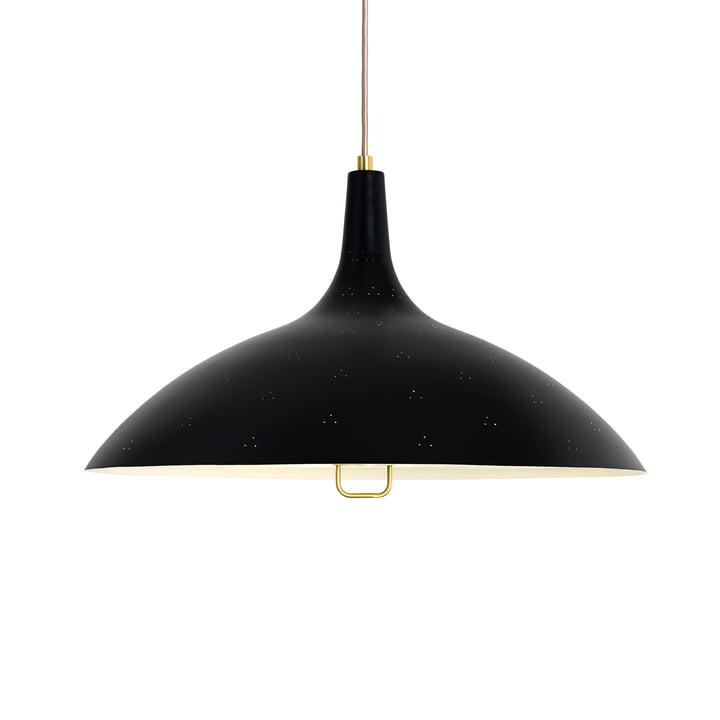 Gubi - 1965 lampe à suspension, laiton / noir