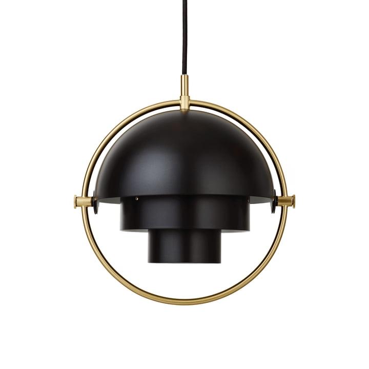 Luminaire suspendu Multi-Lite S Ø 22,5 cm de Gubi en laiton / noir