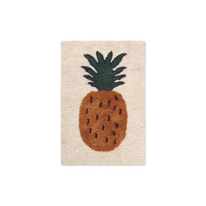"""Le tapis Fruiticana """"Ananas"""" de Ferm Living, 80 x 120 cm"""