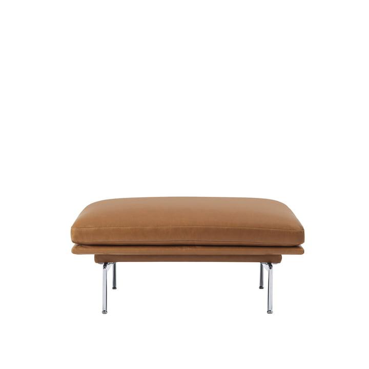 Le Outline Sofa Pouf de Muuto avec des pieds en aluminium poli