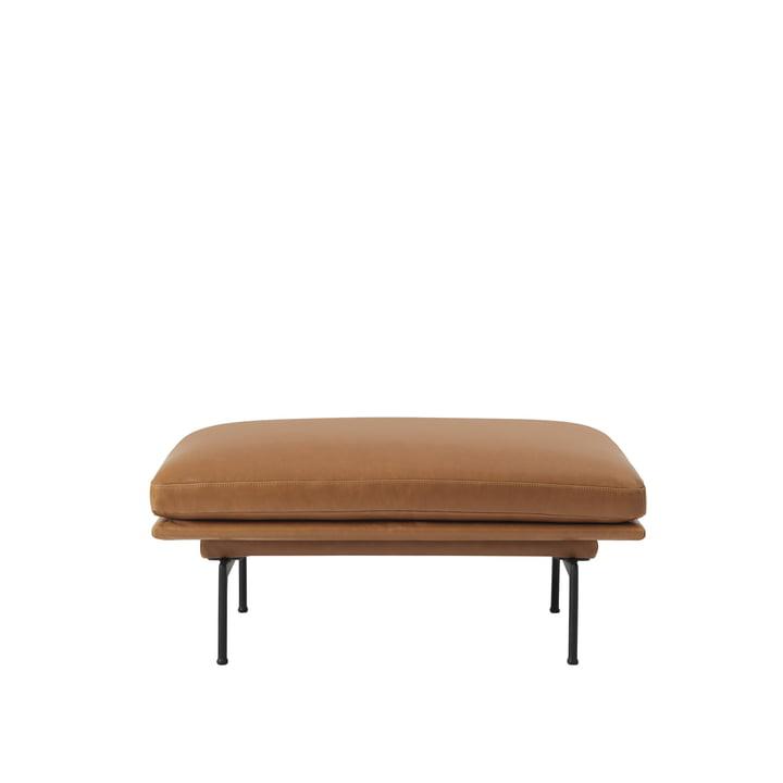 Le Outline Sofa Pouf de Muuto avec des pieds en aluminium noir