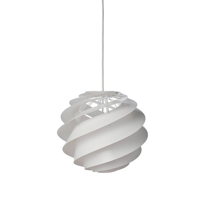 Swirl 2 lampe à suspension Ø 32 cm de Le Klint en blanc