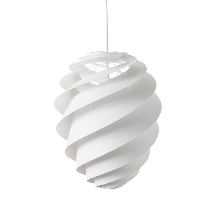 La suspension lumineuse Swirl 2 Ø 36 cm par Le Klint en blanc