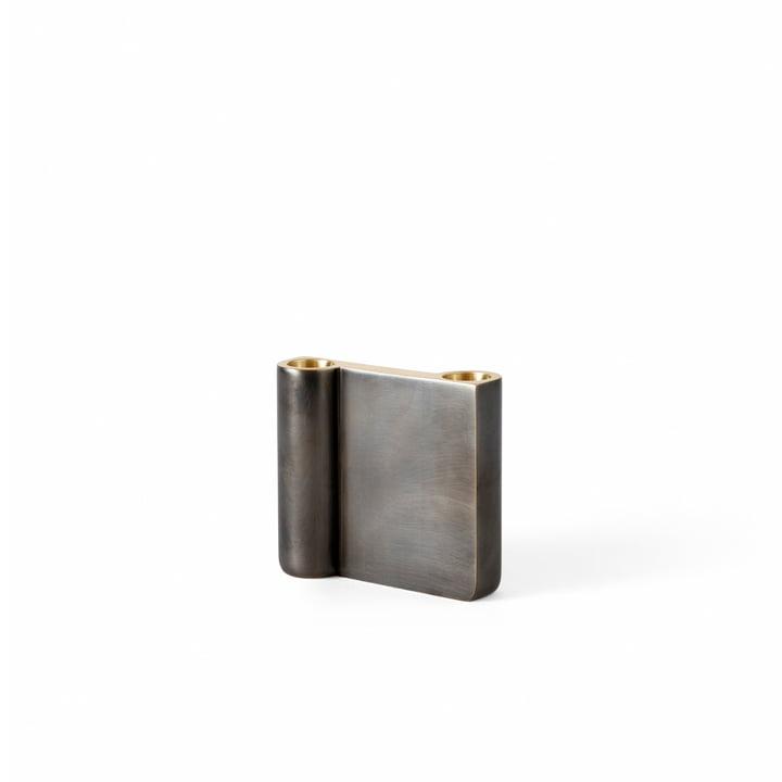 Le petit bougeoir Collect de & Tradition, en laiton bronzé