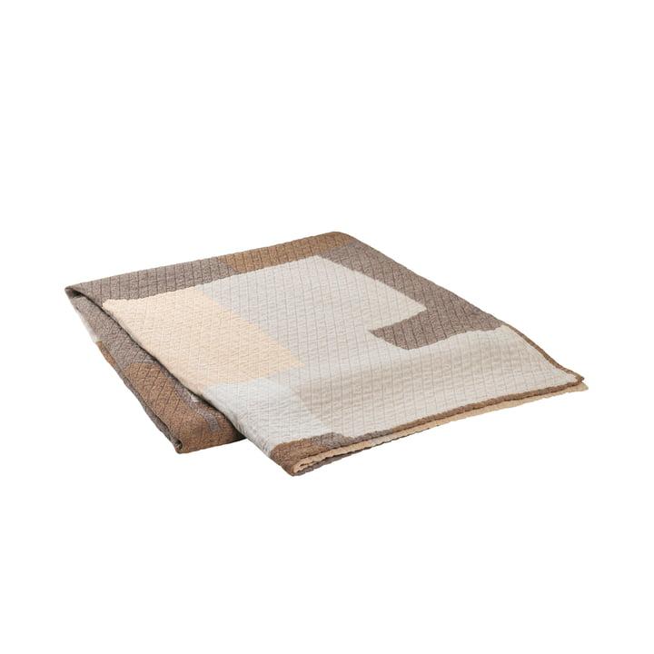Le couvre-lit Patch de Broste Copenhagen en beige / marron