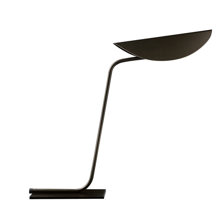 Lampe de table Plume, bronze de Oluce