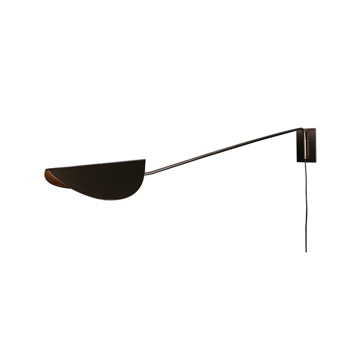 Applique à panache 80 cm, bronze par Oluce