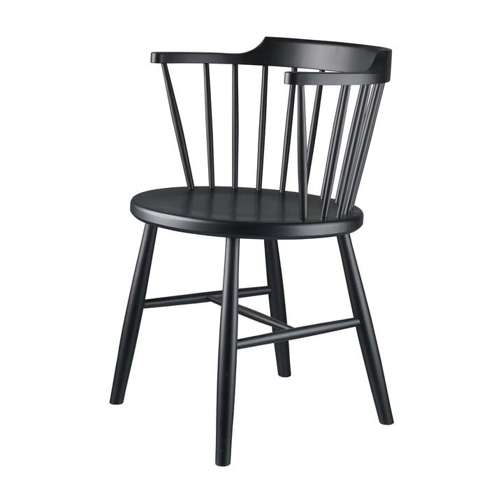 J18 Chaise de FDB Møbler Hêtre noir