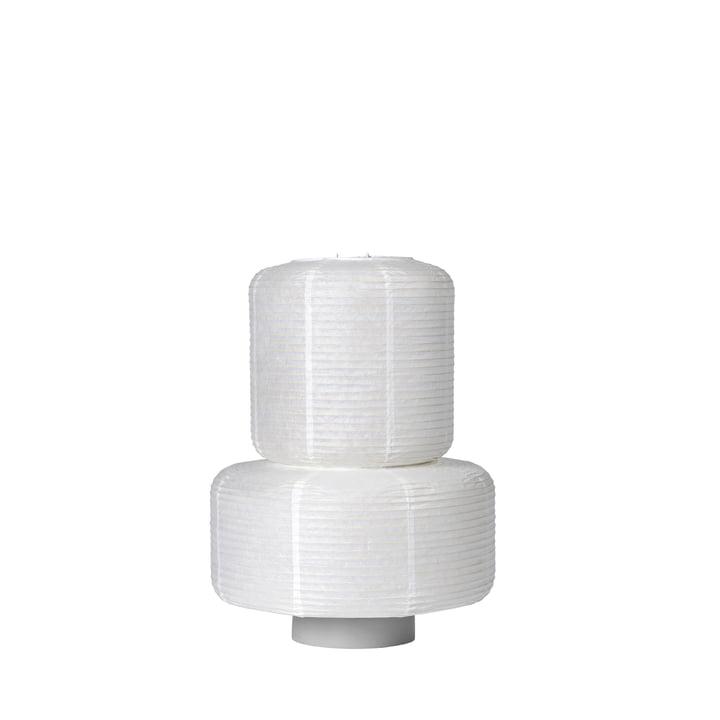L'abat-jour en papier de riz William de Broste Copenhagen en blanc, Ø 36 x H 43 cm