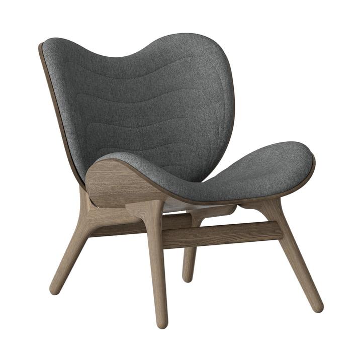 A Conversation Piece Fauteuil de Umage en chêne foncé / slate grey