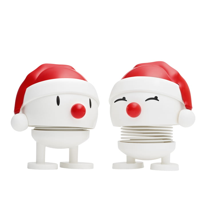 Nosy Santa, small / blanc (ensemble de 2) de Hoptimist