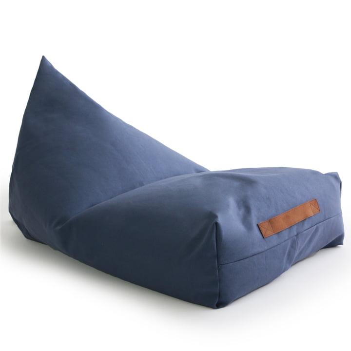 Le pouf Oasis de Nobodinoz dans aegean blue