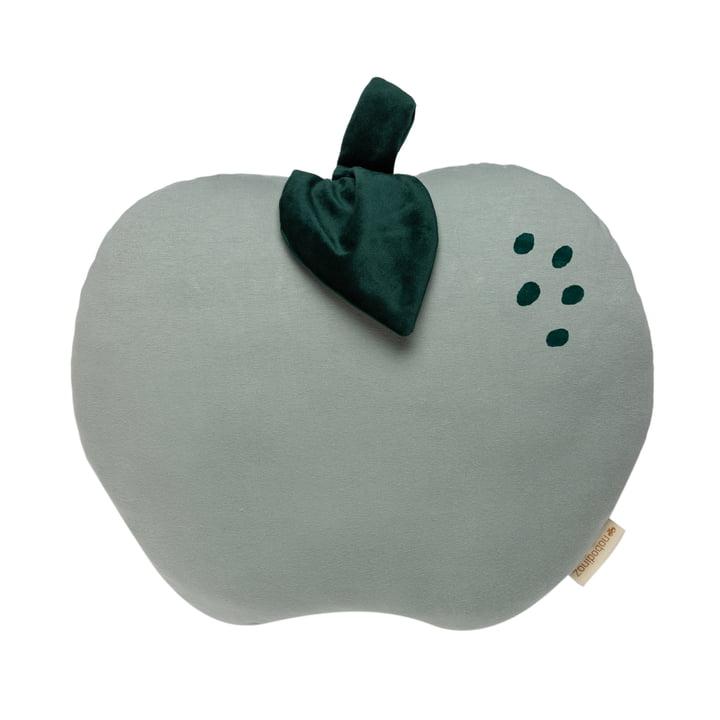 Le coussin Apple de Nobodinoz en vert antique