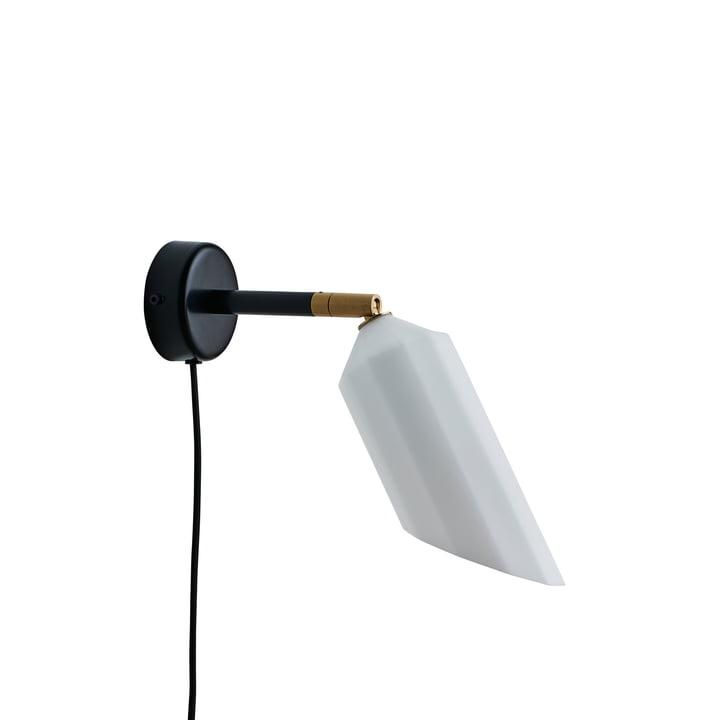 La lampe murale Pliverré de Le Klint en noir / blanc