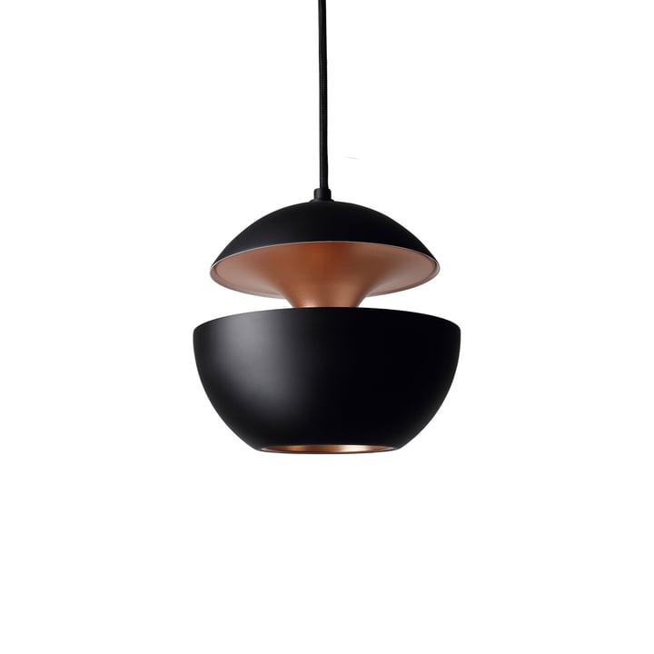 Voici la lampe pendentif Sun 175, noir / cuivre de DCW