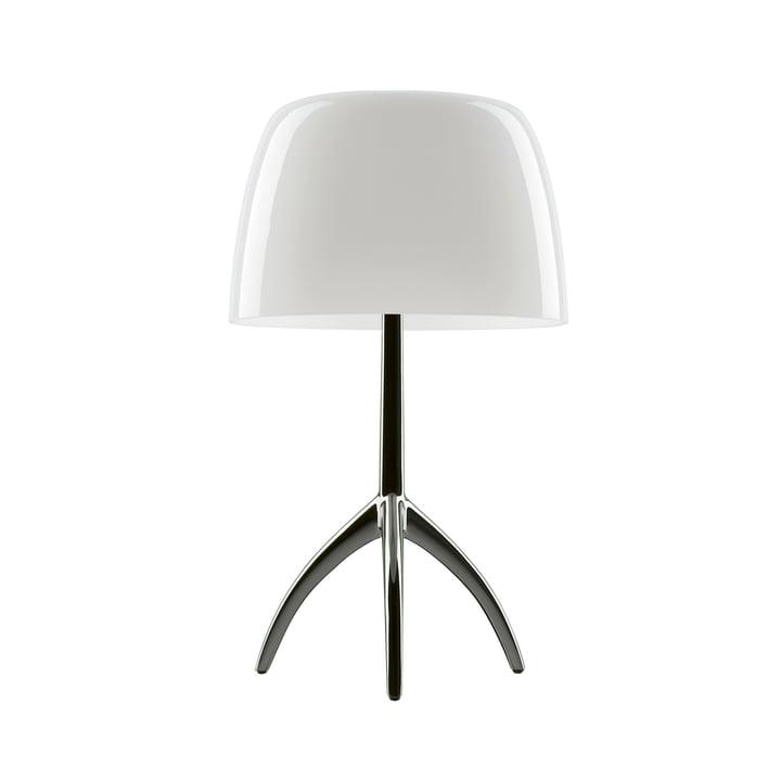 Foscarini - Lumiere 05 Grande lampe de table sans gradateur, aluminium / blanc