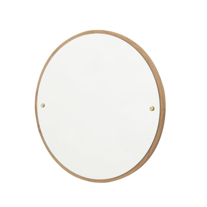 CM-1 Circle Miroir mural Ø 45 cm, chêne huilé par Frama