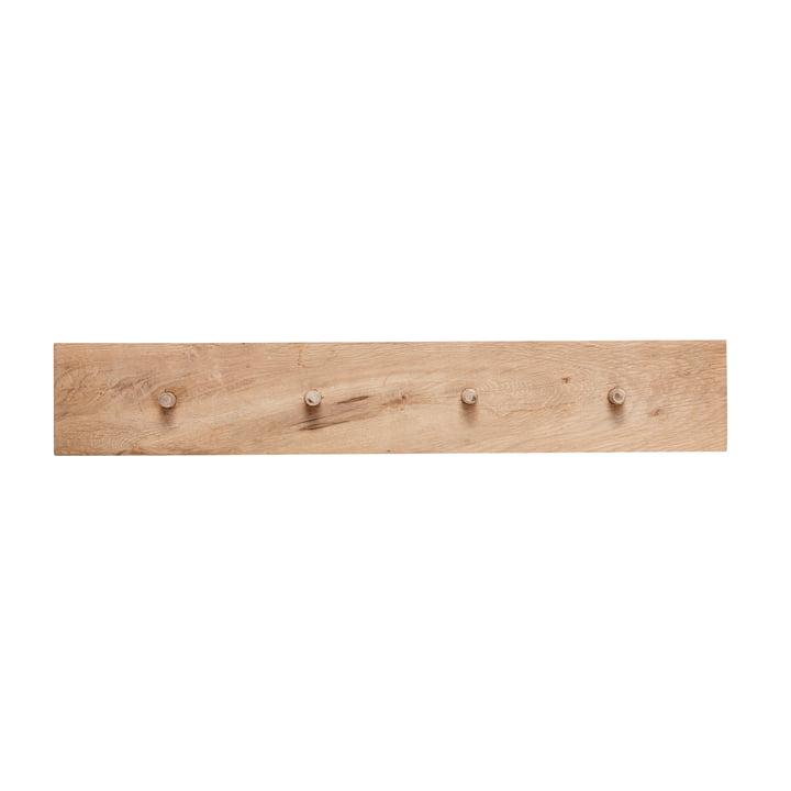Barre à crochets avec 4 crochets, chêne, naturel par Hübsch Interior