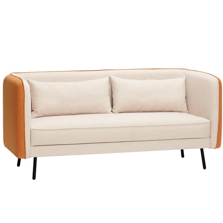 Canapé 2 places, beige/orange à partir de Hübsch Interior