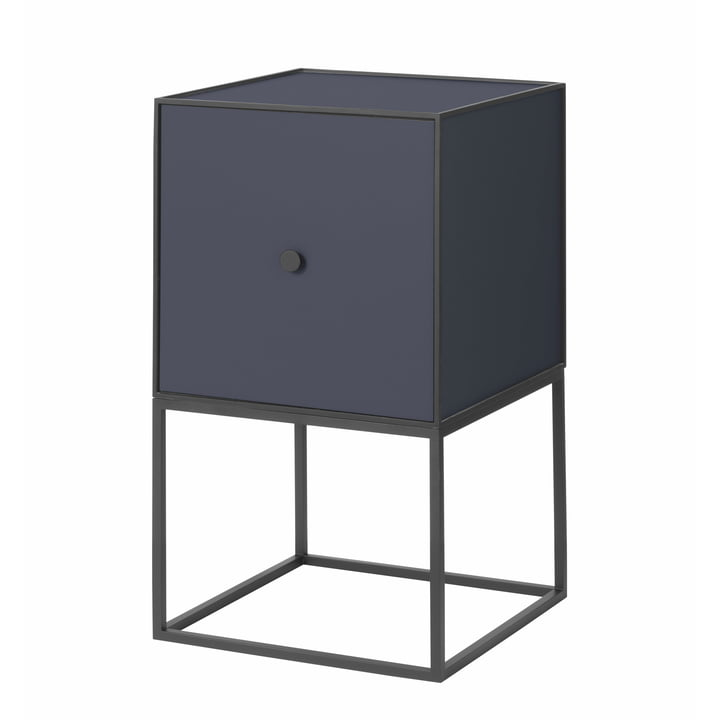 Frame Sideboard 35 (avec porte), bleu foncé de by Lassen