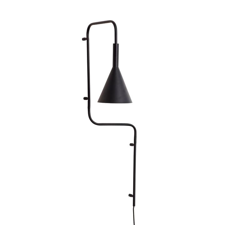 Applique métallique, noire, haute de Hübsch Interior