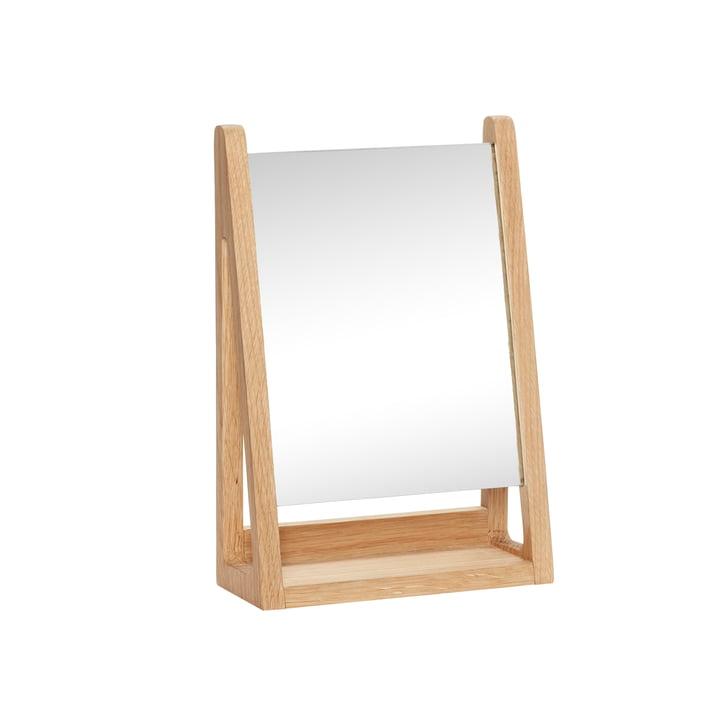 Le miroir de table de Hübsch Interior en chêne, nature