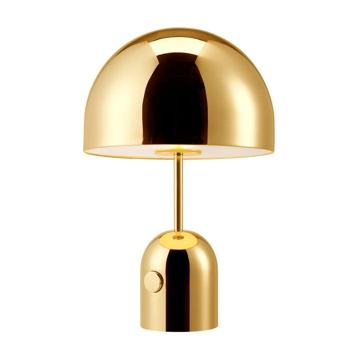 Lampe de table Bell de Tom Dixon en acier laqué laiton