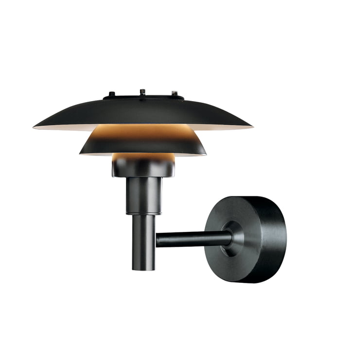 Suspension lumineuse PH3-2½ (Outdoor) de Louis Poulsen en noir