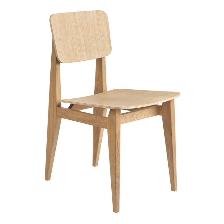 C-Chair Dining Chair Veneer, Chêne huilé par Gubi