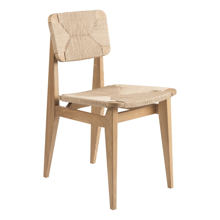 C-Chair Dining Chair Paper Cord , Chêne huilé par Gubi