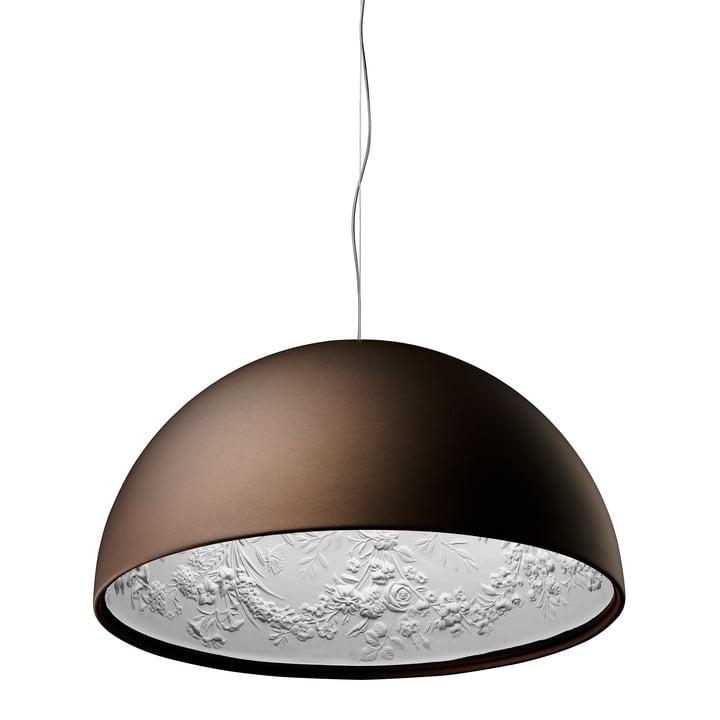 Le Skygarden 2 luminaires suspendus de Flos en brun rouille / mat