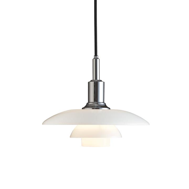Luminaire suspendu PH 3/2 de Louis Poulsen en chrome brillant