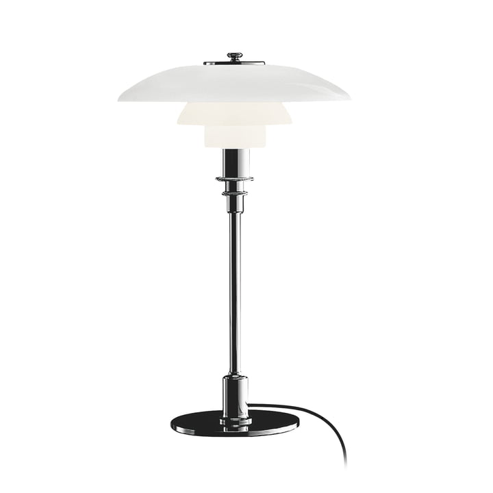 Lampe de table PH 3/2 de Louis Poulsen en chrome poli