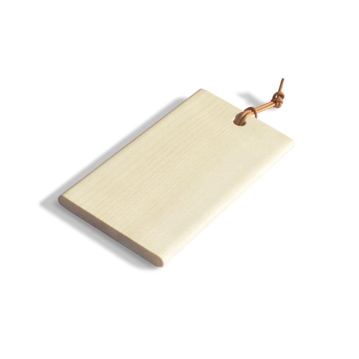 La planche à découper Tiny de side by side en érable naturel, 15 x 7,7 cm