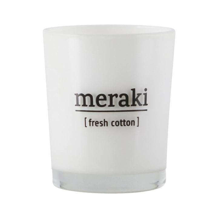 La bougie parfumée Fresh Cotton de Meraki , Ø 5,5 cm