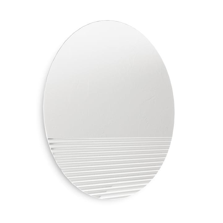 Le miroir mural Ridge de Umbra , Ø 61 cm, clair