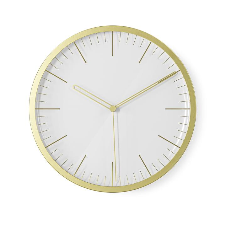 L'horloge murale Infinity / horloge de table de Umbra , Ø 21,5 cm, laiton, mat